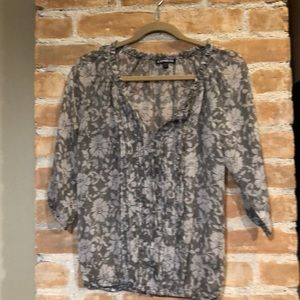 Express sheer floral blouse